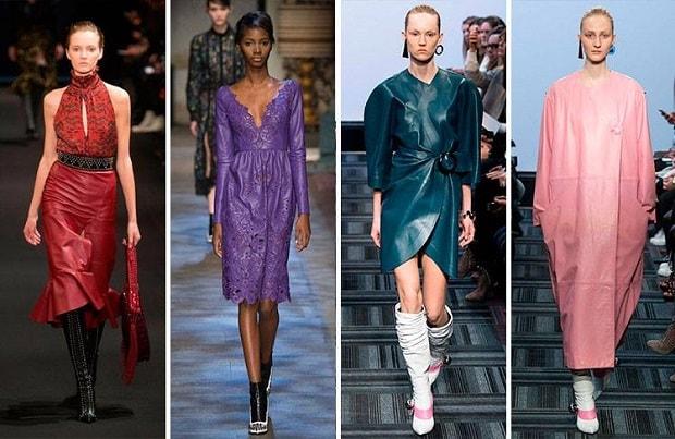 6998f72464f ... μιλάμε για φορέματα είτε αναφερόμαστε σε σακάκια και παλτό οποιουδήποτε  μήκους, το δέρμα είναι πανταχού παρόν! Τα δερμάτινα ρούχα θα φορεθούν και  φέτος ...