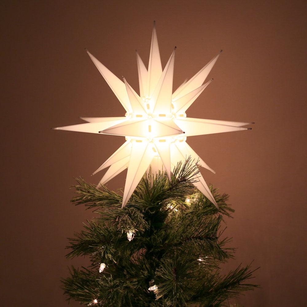 North-Carolina-Moravian-Star-Christmas-Tree-Topper-Light