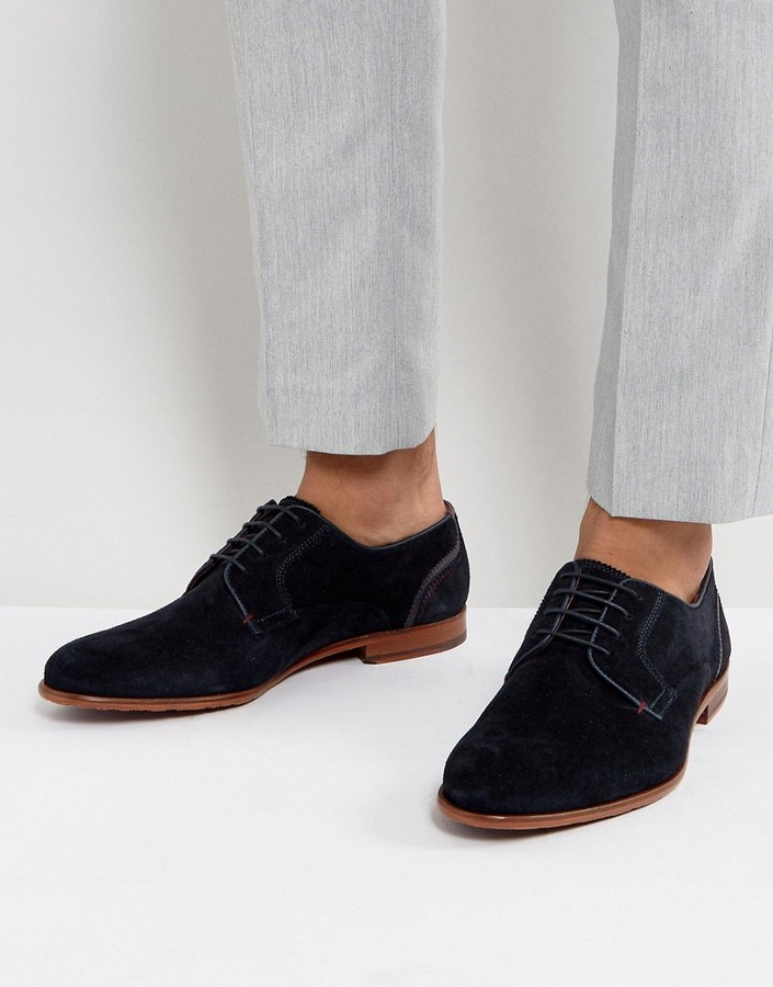 Ted-Baker-Iront-Suede-Derby-Men-Shoes-In-Navy