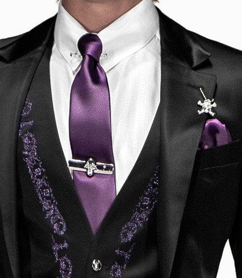black-and-purple-silk-satin-mens-suit
