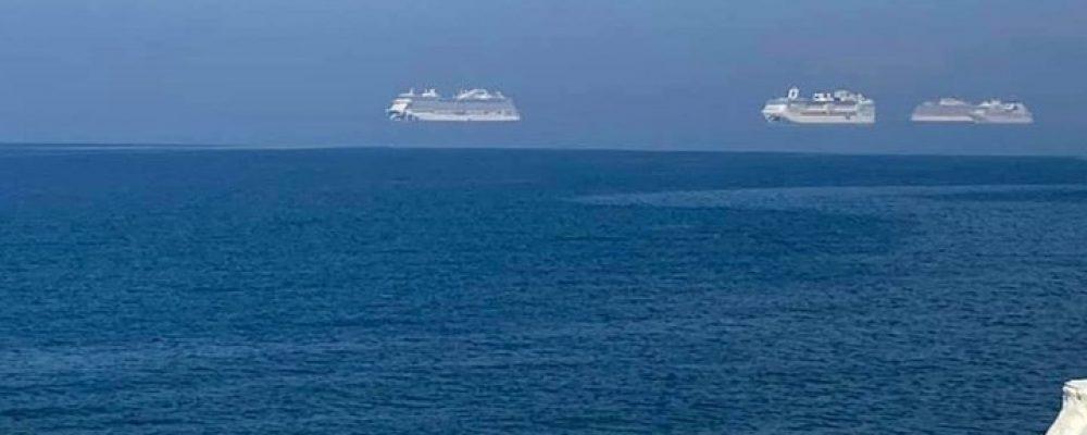 """Κύπρος: """"Αιωρούμενα"""" κρουαζιερόπλοια στη Λεμεσό – Τι είναι το φαινόμενο """"Φάτα Μοργκάνα"""" – ΦΩΤΟ"""