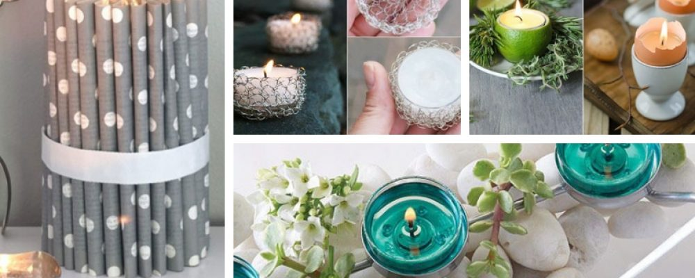 Κομψές DIY ιδέες διακόσμησης κεριών με απίθανα κηροπήγια
