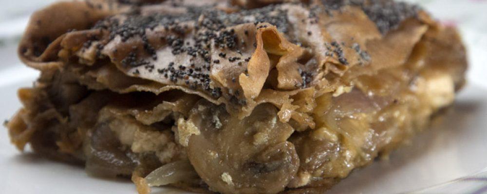Τα μυστικά της χωριάτικης μανιταρόπιτας με φύλλο ολικής άλεσης  (βίντεο)