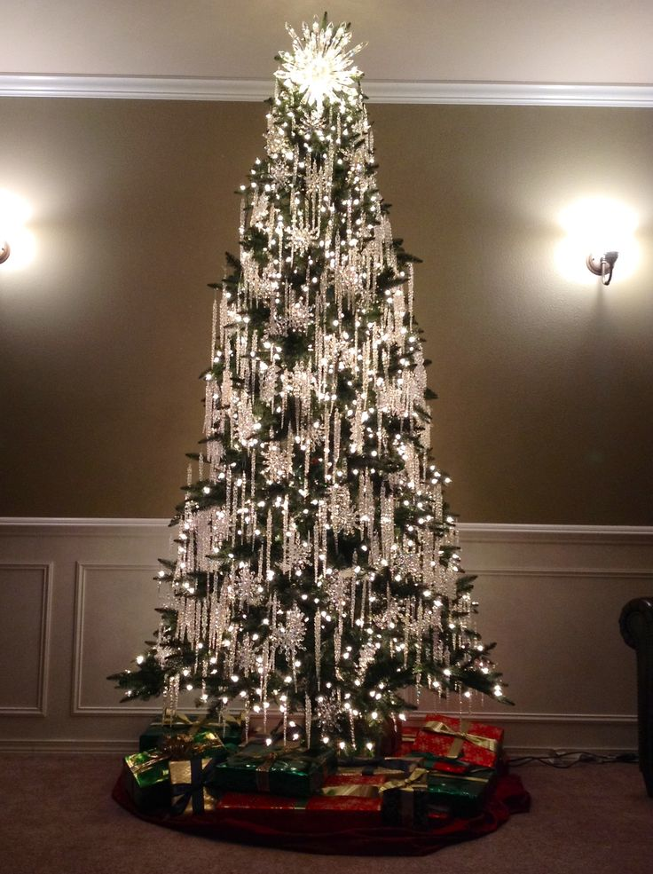 christmas-trees-with-white-silver-decoration